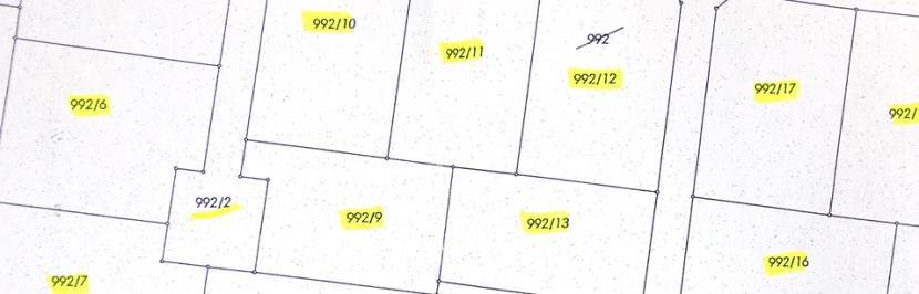 podział nieruchomości - mapa